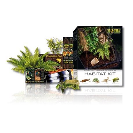 Exo Terra Habitat Kit Tropical 120 Lts 45X45X60 cm PT2662